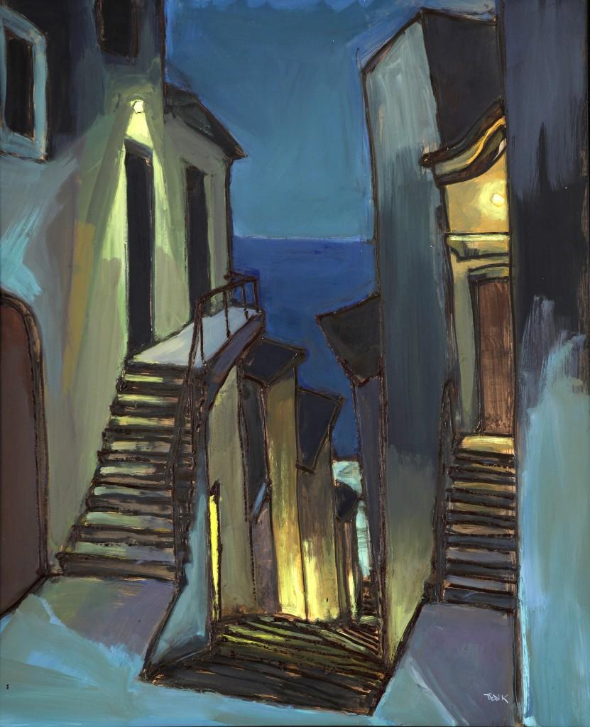 2008 Lépcső este és lent a tenger