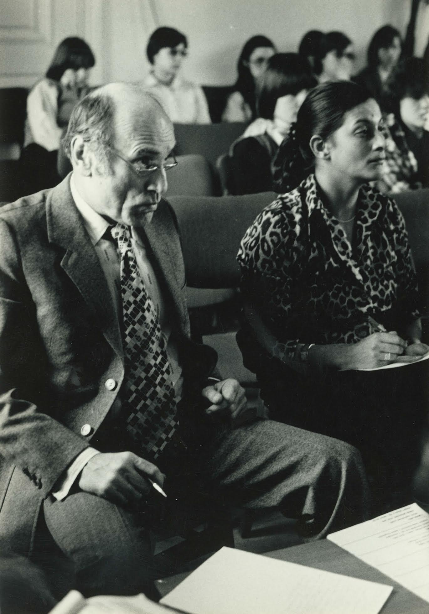 Bánffy Györggyel 1981-ben Fotó: Óbudai Társaskör