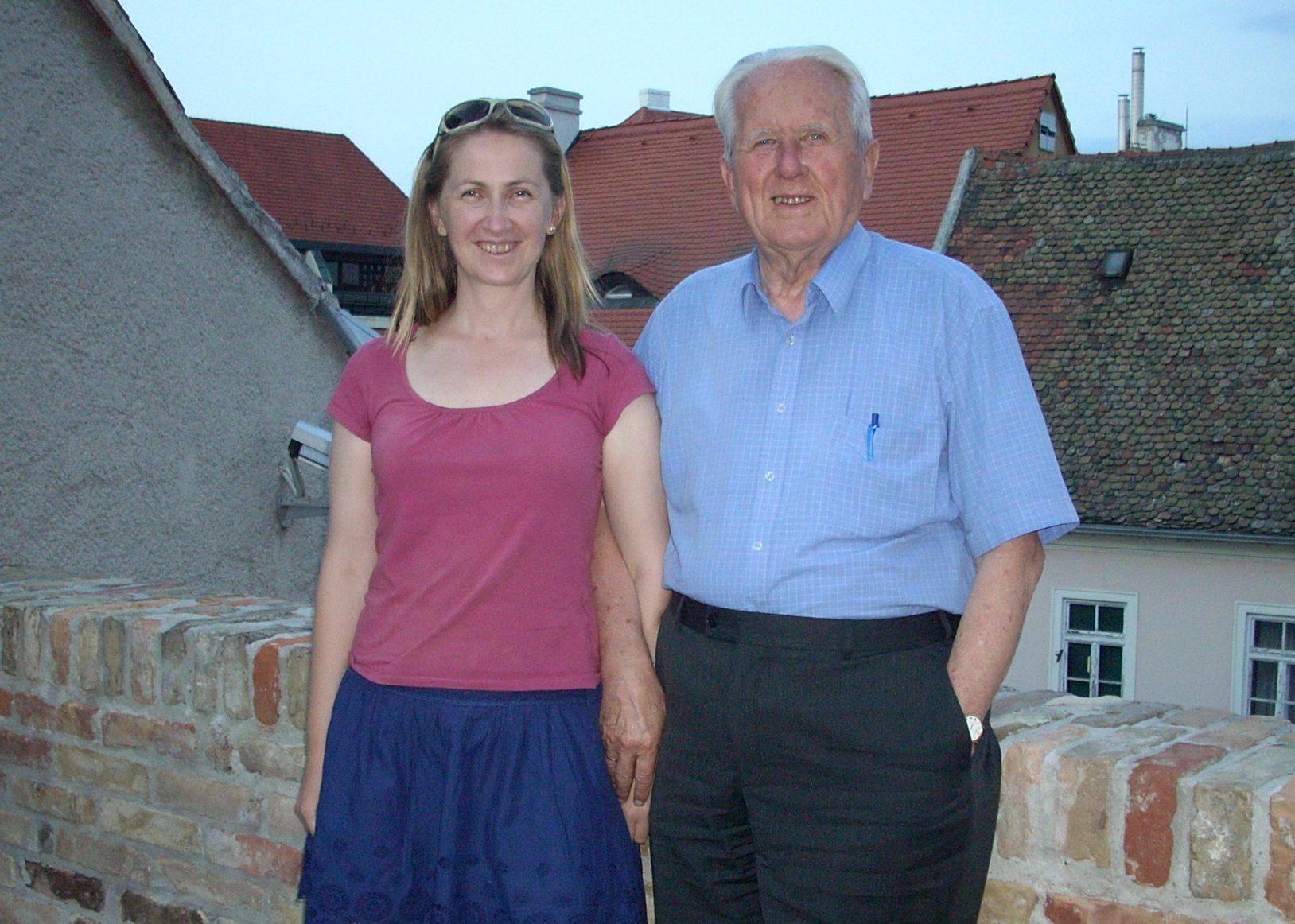 Feleségével, Simon Erikával